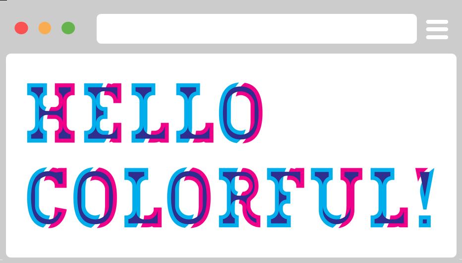 Kết quả hình ảnh cho chromatic typeface Bixa
